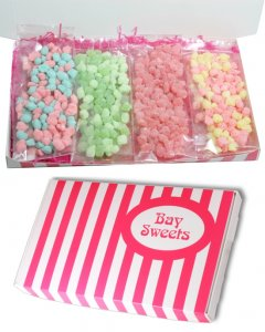 Gift Sweets- Pips Sweets Selection box- 125g Sherbet Pips, 125g Cherry Pips, 125g Bubblegum Pips, 125g Watermelon Pips