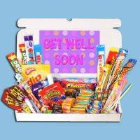 Get Well Soon Retro Sweets Large Gift Box