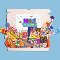 Number 1 Teacher Large Retro Sweets Box: