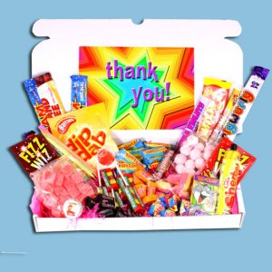 Thank You Large Retro Sweets Box