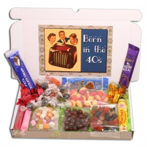 Born in the Forties Sweets Large Gift Box