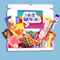 Best Wishes Large Retro Sweets Box