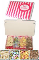 Gift Sweets - Chocolate Flavour Novelties - 125g Chocolate Footballs, 125g White Mice, 125g Ice Cream Cones, 125g Chocolate Jazzles