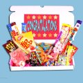 Congratulations Large Retro Sweets Box