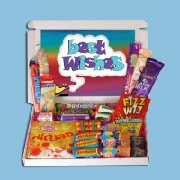 Best Wishes Mini Retro Sweets Box