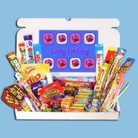 Happy Birthday Large Retro Sweets Box