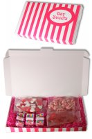 Gift Sweets - Valentines -125g Haribo Heart Throbs, 125g Strawberry Twist Kisses, 125g Juicy Lips & 12 Mini Love Heart Rolls