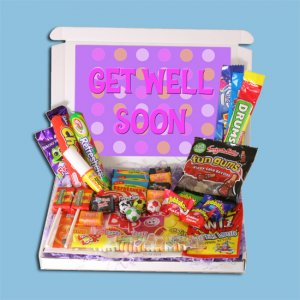Get Well Soon Retro Sweets Mini Gift Box