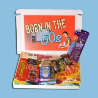 Born in the Fifties Retro Sweets Mini Gift Box