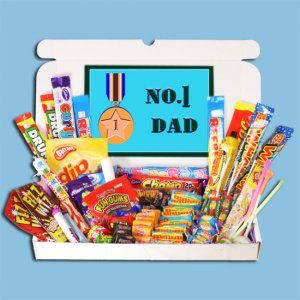 Number 1 Dad Large Retro Sweets Box - Fathers Day