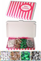 Gift Sweets - Mints - 125g Mint Imperials, 125g Old Fashoned Bulls Eyes, 125g Chocolate Peppermint Creams, 125g Mint Humbugs