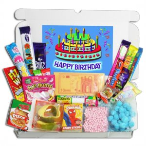Happy Birthday Chews and Novelties Large Gift Box