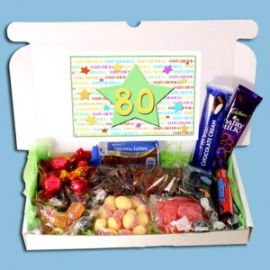 80th Birthday Sweets Gift Box