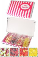 Gift Sweets - Sugar Free - 125g Rhubarb and Custards, 125g Blackberry and Raspberry, 125g Pear Drops & 125g Sherbet Lemons