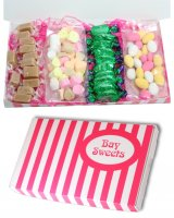 Gift Sweets- Sweets Selection Box for Grandma- 125g Edinburgh Rock, 125g Sugared Almonds, 10 Buchanons Chocolate Peppermint Creams, 12 Pieces of Vanilla Fudge
