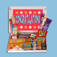 Congratulations Mini Retro Sweets Box