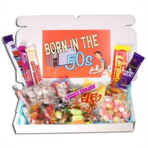 Born in the Fifties Sweets Large Gift Box