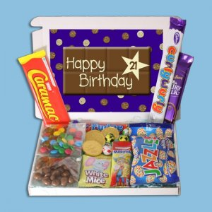 Happy 21st Birthday Mini Chocolate Novelties
