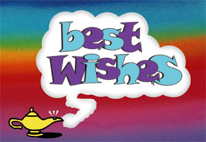 Best Wishes label