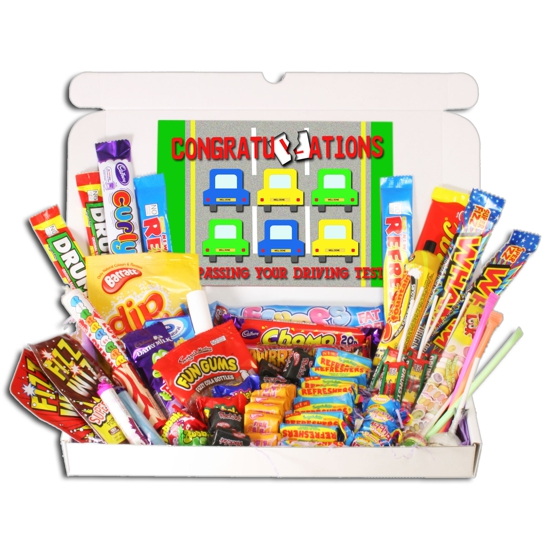 Driving Test Congratulations Large Retro Sweets Box - Click Image to Close