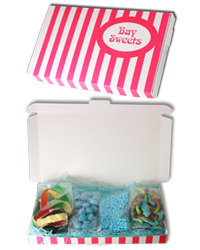 candy striped sweets gift box